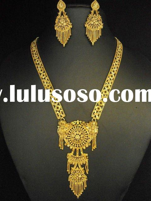 Gold Plated Necklace Set Bollywood Fashion Jewelry LuluSoSocom
