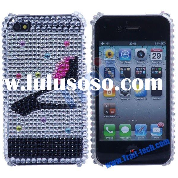 for iPhone 4 Cases Jewel Jewelled Phone Cases(High Heel)