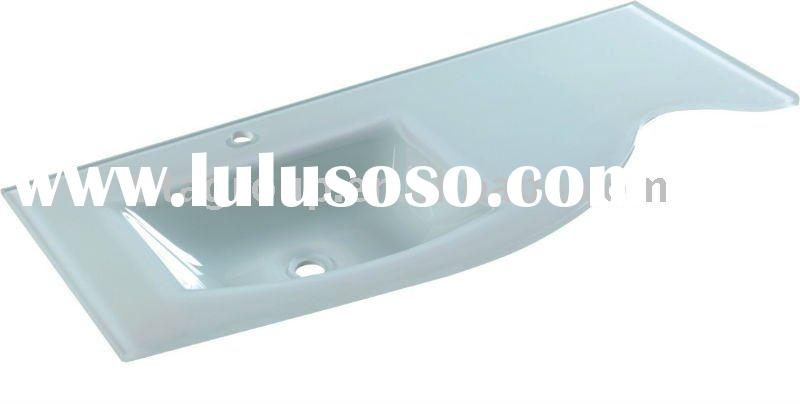 glass basin countertop