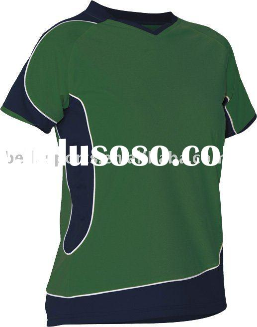 green insert white piping white football/soccer jersey/shirts,round neck soccer kits/uniform,comfort