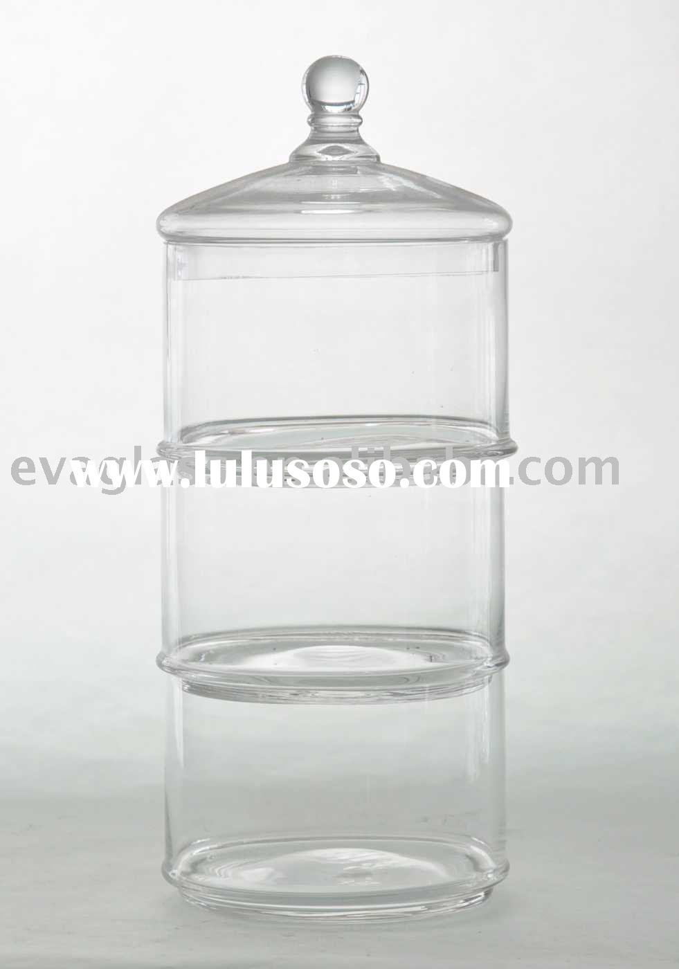 handmade glass storage jar glass food container