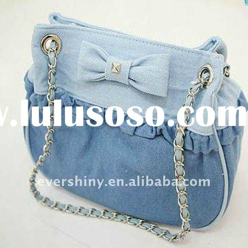 hot sale new arrival unique blue ladies long chain bag