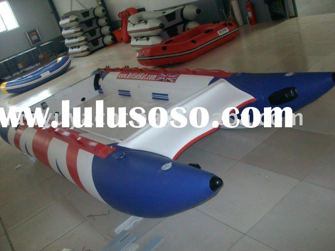 inflatable aluminum floor speed boat LY-330 with CE