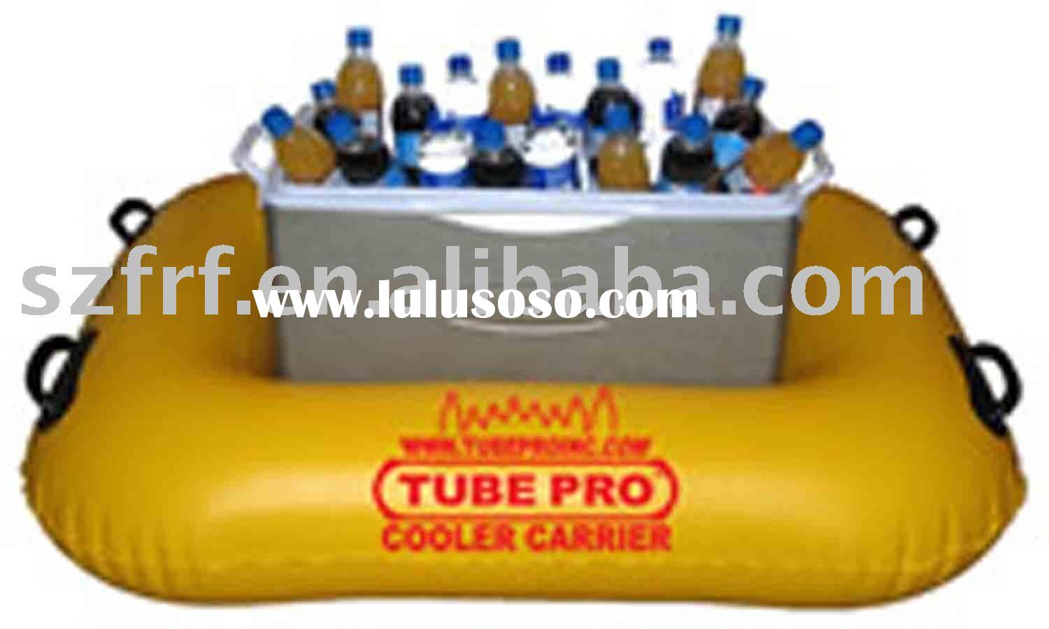 inflatable float cooler carrier,inflatable tube cooler carrier,inflatable floating cooler carrier
