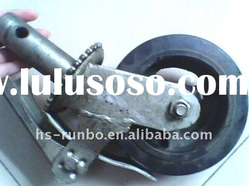 iron core rubber scaffolding caster wheels with break