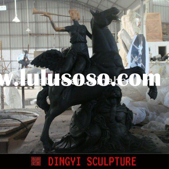 life size horse/knight sculpture