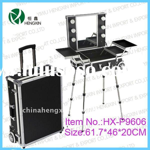 lighting makeup case with stand lighted professional makeup cases rolling aluminum makeup case