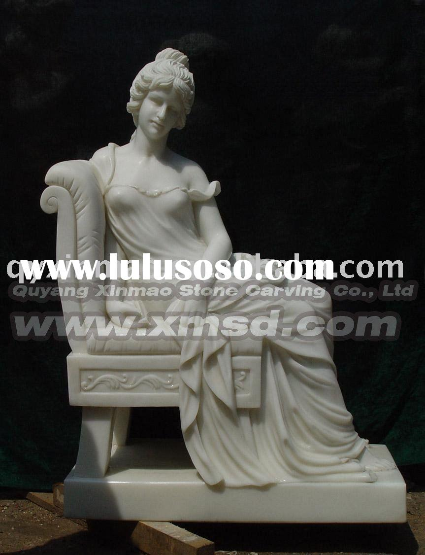 marble stone woman figure carving sculpture