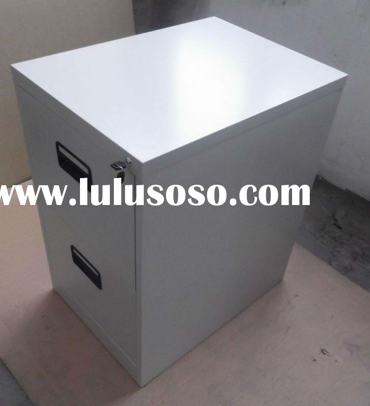 metal 2 drawers filing cabinet with knock down structure used in office