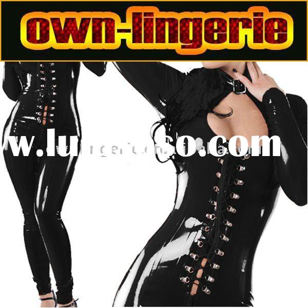 new arrival latex bodysuit,dance wear w6031