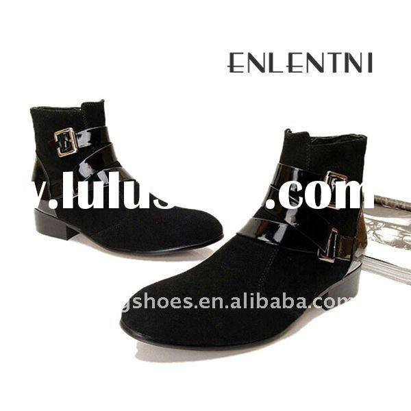 new high leather boot shoes for men 2012