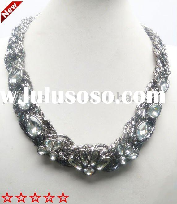 newest design fashion imitation diamond alloy necklace