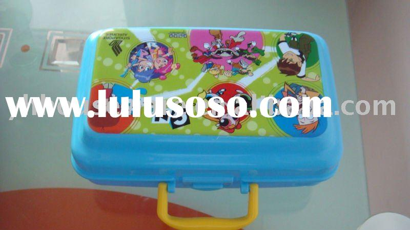 plastic kid lunch box with handle