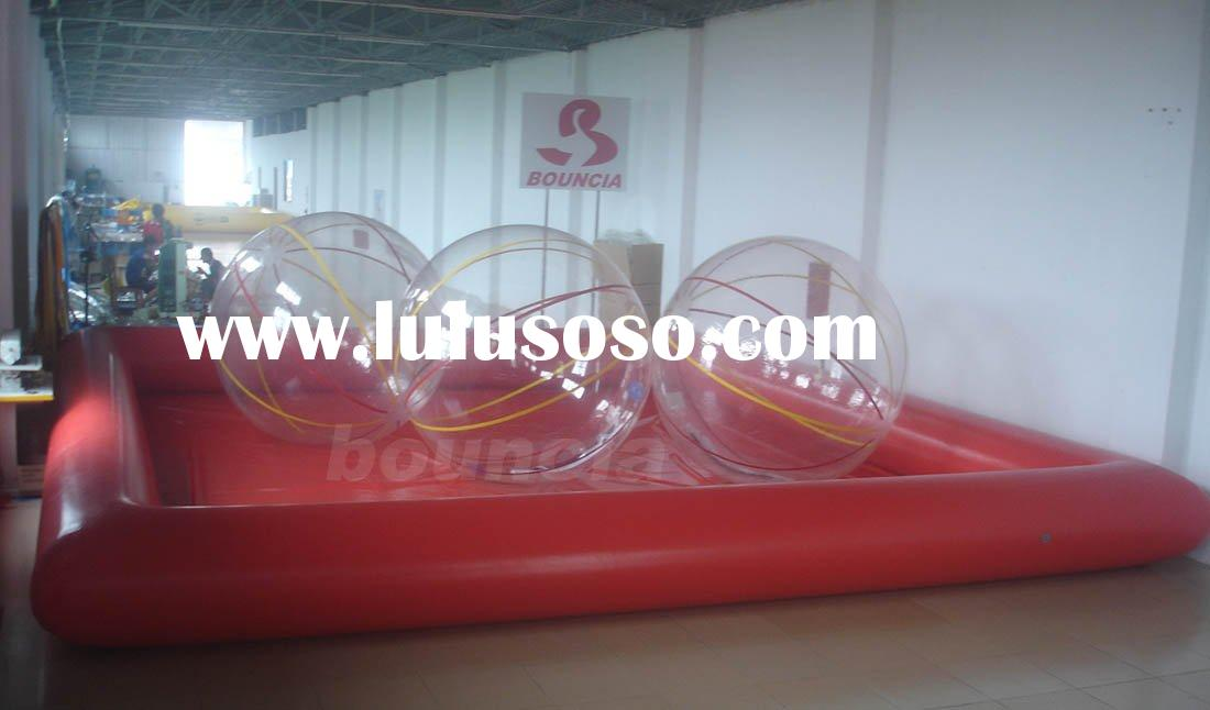 pvc inflatable pool for water walking ball