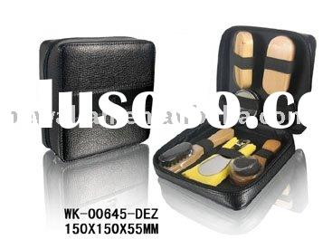 shoe polish set,shoe shine kit,PU leather shoe care set(New products)