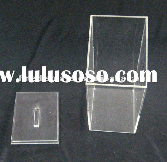 transparent acrylic candy storage bin with cover (FD-E-079)