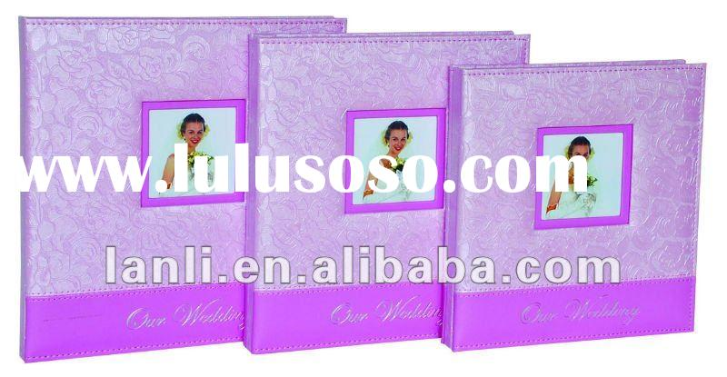 wedding photo album with PVC leather cover wedding style