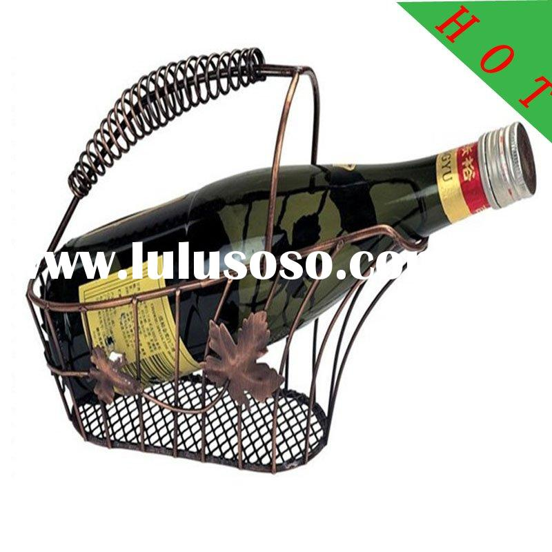 wine basket wine rack iron wine shelf metal wine stand