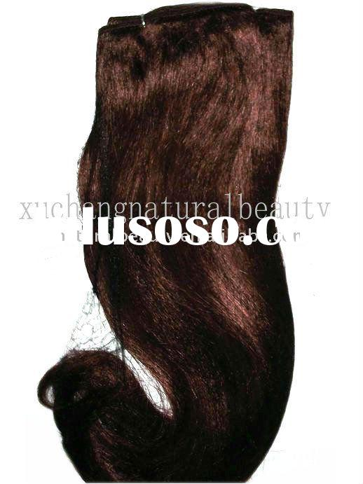yaki curl synthetic hair extension, high heat defent synthetic hair weft