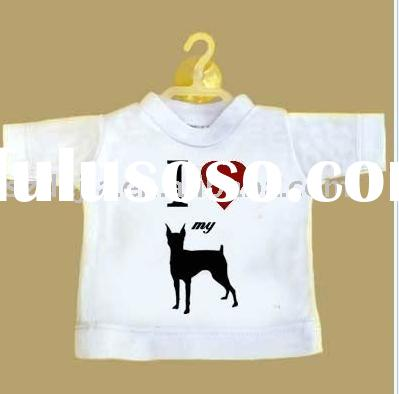 100% cotton mini t shirt with logo printing