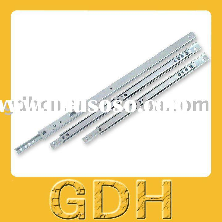 17mm Single extension ball bearing slide, desk drawer