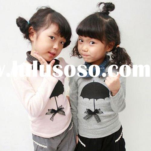 2011hot sale lovely T-shirt korea style children clothing kids clothing baby wear