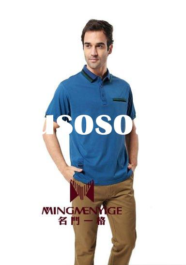 2012 fashion 100% cotton polo t-shirts for men's dressing