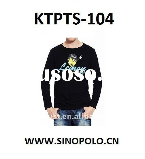 2012 fashion long sleeve cotton t shirts for men
