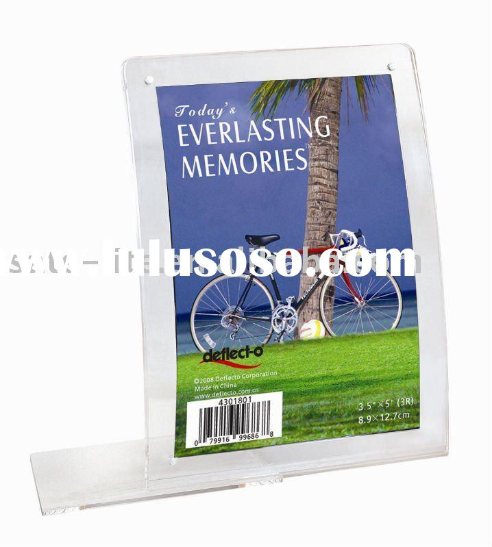 4R L Shape Curved Photo Frame with Magnet(Portrait)Clear