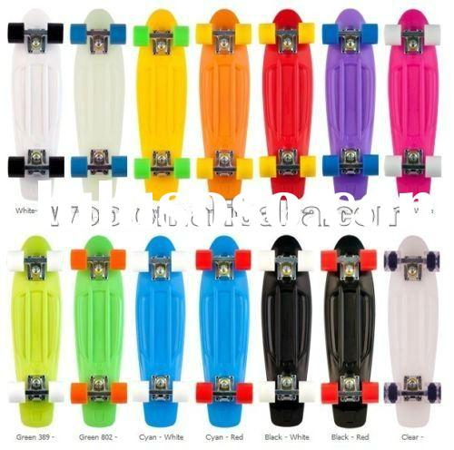 4 Wheels Colourful New Plastic Penny Skateboard Fish Long Board