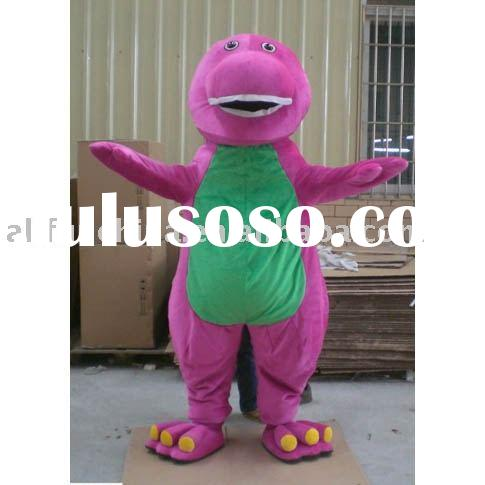 Barney fur costume/plush costume/ fur character shape/plush toys/plush replica/party costume/ /plush