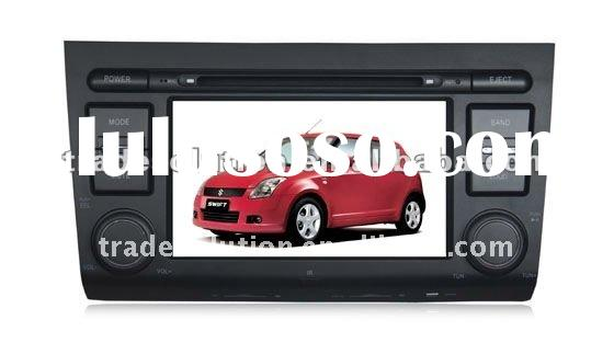 Car DVD Player with GPS Ipod Iphone Bluetooth Steering Wheel Control HD Screen for Suzuki Swift
