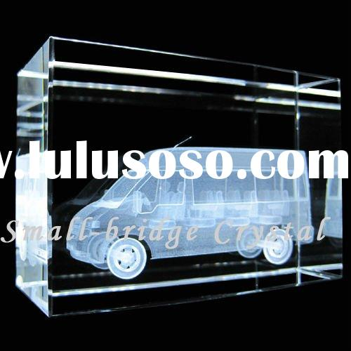 Crystal 3D Laser Etched Ford Auto