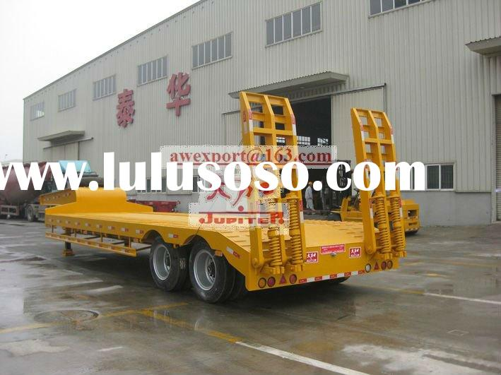 Fashion Style 2 Axles 50-Ton Gooseneck Low bed Truck Semi Trailers Or Semi-trailer trucks