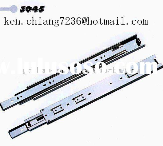 Foshan Nanhai Factory 45mm 3-fold #3045 full extension telescopic ball bearing drawer slide guide