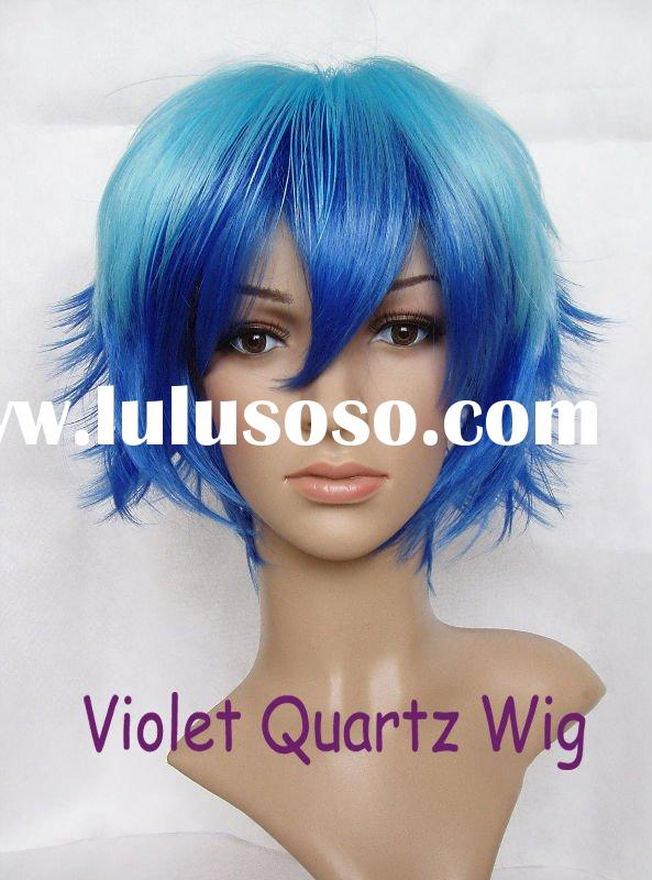 Full cap heat resistant fiber synthetic hair anime COSPLAY wig JKJ 072