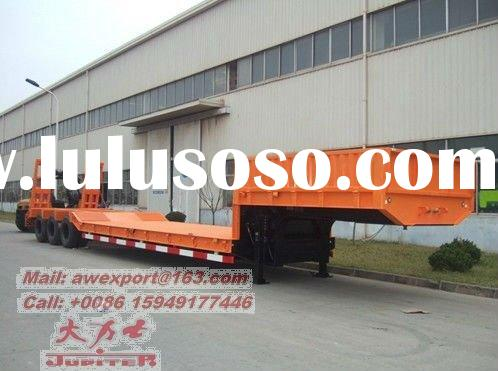 Heavy Payload of 2 or 3 Axles Gooseneck Low Deck Truck Semi Trailers Or Semi-trailer trucks