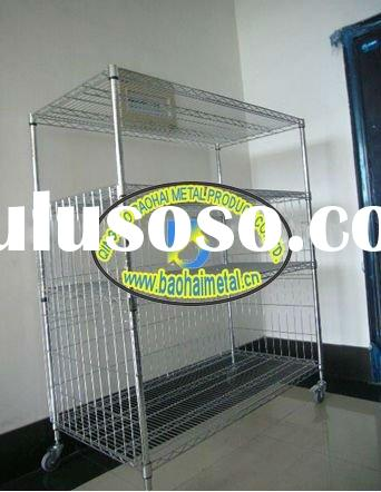 Heavy duty wire shelf/Trolley/metal shelf/display stand