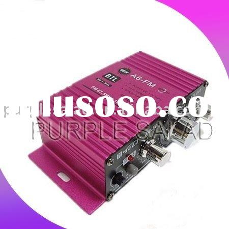 Hot Selling Amplifier!! A6 FM radio Car/MP3/Motorcycle Amplifier/Power Amplifier/Car Amplifier/Ampli