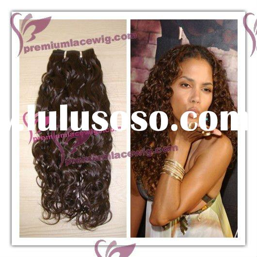 Hot selling Halle berry curly brazillian hair extension