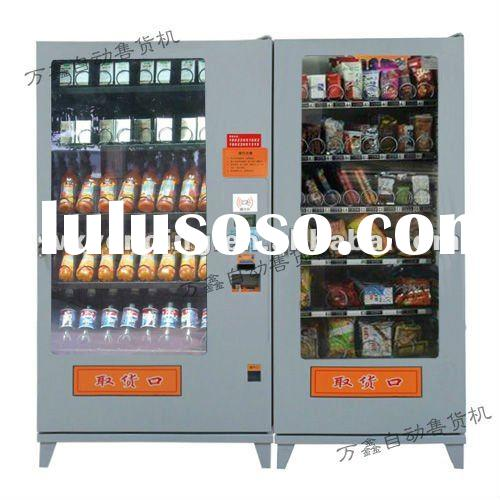 Integrated food and beverage vending machine