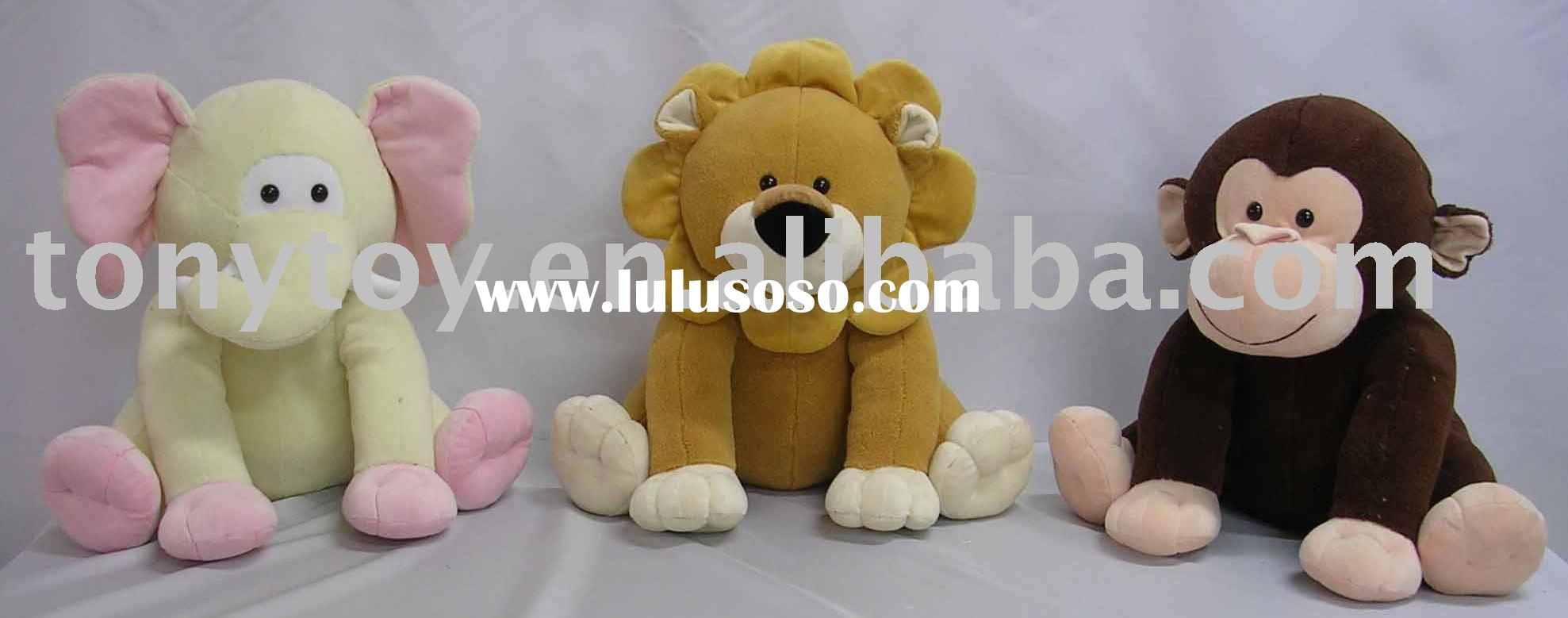 Kindly plush elephant,plush lion,plush monkey,stuffed elephant,stuffed lion,stuffed monkey,soft toy
