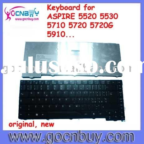 Laptop keyboard for acer aspire 5720 aspire 5720G aspire 5910 US/Swedish/Spanish/Turkish/UK/German/F
