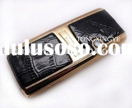 Low Price $80 N89 Gold Mobile Phone,Tri-band,Bluetooth,Camera,Cheap Cell Phone with Diamond, Free Sh