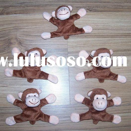 Magnet Monkey Magnet Plush Monkey Mini Plush Monkey Keychain Stuffed Animal Mobile Phone String Toys
