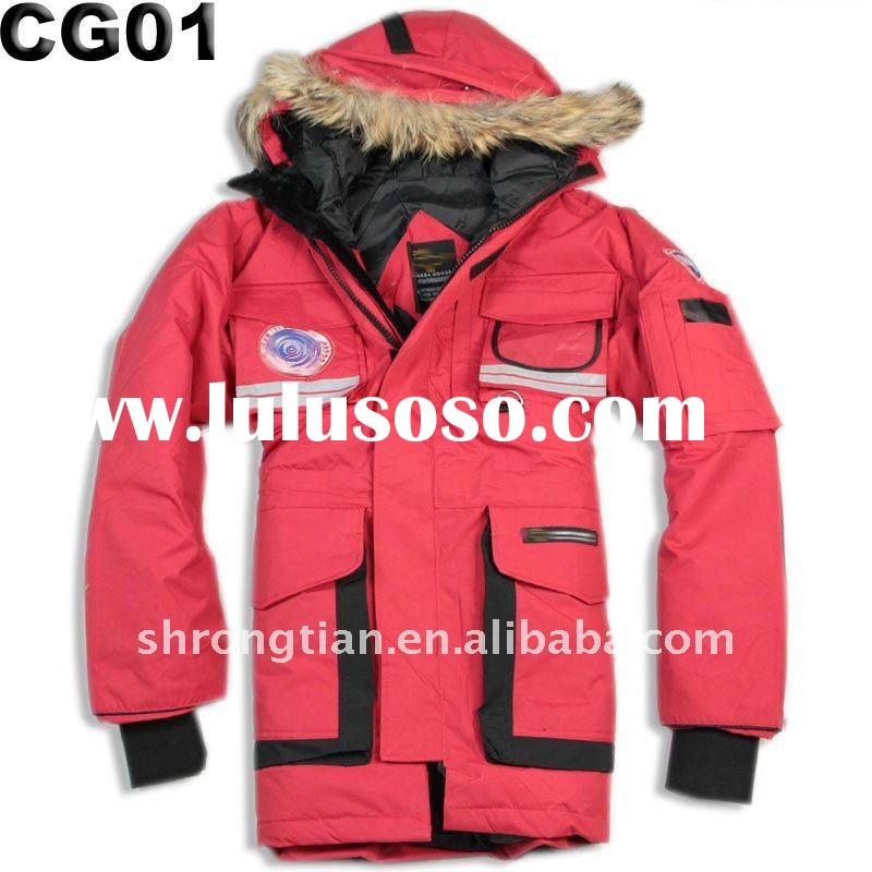 Man goose down filled jacket for snowboard
