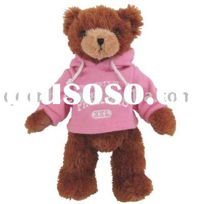 Mini Plush Boy Bear with Hat and T shirt Plush Bear with Hat Miniature Plush Teddy Bear Keychain Toy