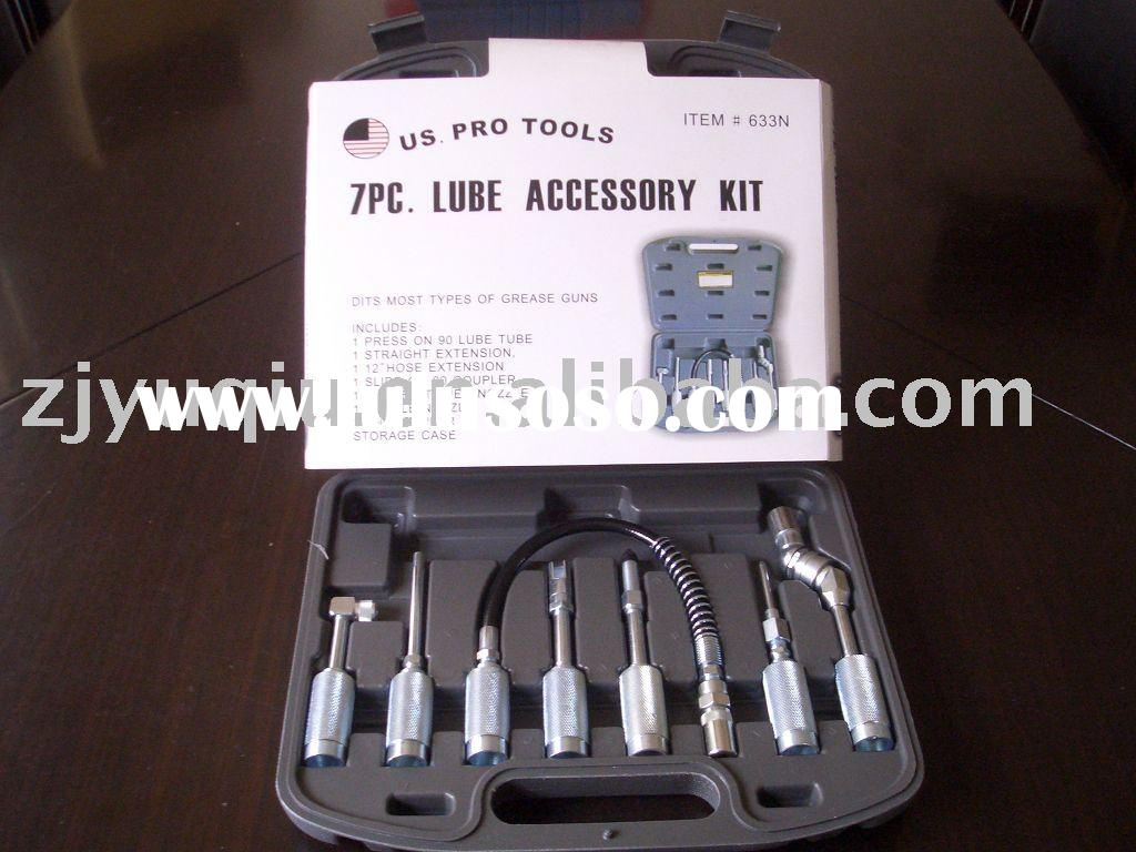 Quick-connect lube accessory kit 7pcs /Grease gun accessories