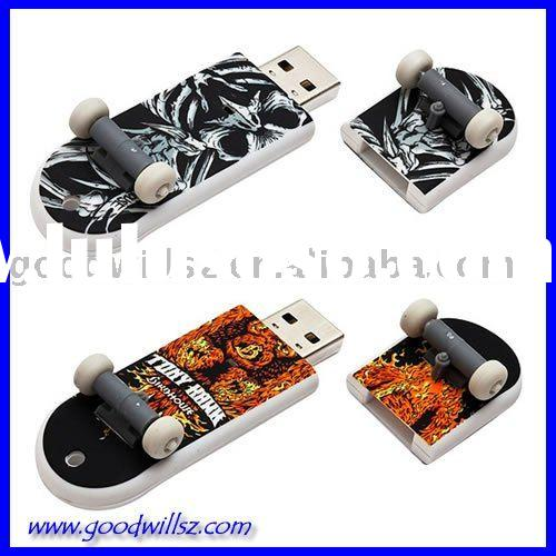 Sport Skateboard USB Flash Drive with customized logo