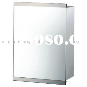 Stainless Steel Slide Wall Cabinet With Mirror